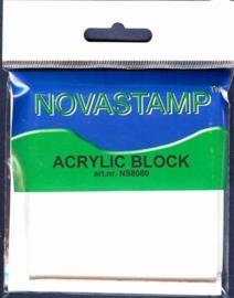 Novastamp acrylic block 10x8x8cm