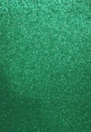 CE800201/1535- 5 stuks foam vellen van 22x30cm en 2mm dik groen glitter