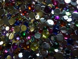 250 gram ronde strass stenen mix van 6-14mm kleurenmix - groot aantal!