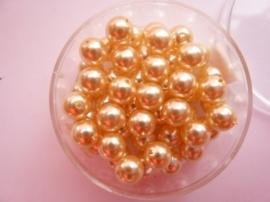 50 x ronde glasparels in een doosje 6mm champagne - 2219 603