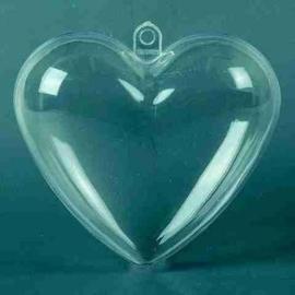 006917/0666- plastic hart transparant doorsnee: 6cm