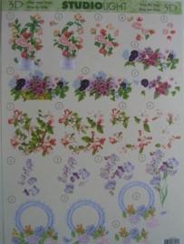 kn/419- A4 knipvel AANBIEDING studio light 047 bloemen