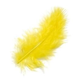 006619/0053- 15 stuks maraboe veren geel van 10cm