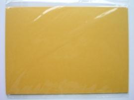 08091- 5 x luxe dubbele kaarten gerild standaard formaat oranje/geel 10.5x14.8cm SPECIALE AANBIEDING