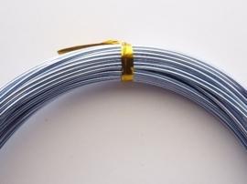 CH.10x19 - 10 meter aluminiumdraad (Wire&Wire draad) van 1mm lichtblauw
