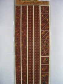 5101- randen en hoeken eikels 30x13cm Sharon Ann collection