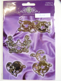 0002423- Joy Crafts stencil ornamenten 7.5cm lang - OPRUIMING