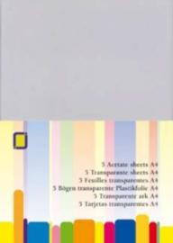 CE115632/1000- 5 stuks transparante sheets plastic mica A4