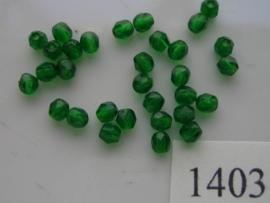 30 x tsjechische kristal facet geslepen glaskralen 4mm 1403