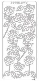 st805- stickervel met rozen goud 10x23cm  -  121001/0425