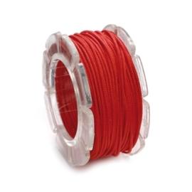 2290 620- 2 meter waxcord met nylonkern rood 2mm dik