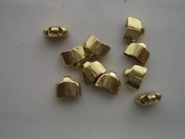 7x2.5mm dichte eindkapjes 10 stuks goud  -  2235/074
