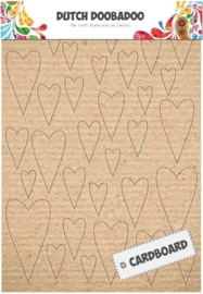 CE185230/9003- Dutch Doobadoo Dutch cardboard art harten A5