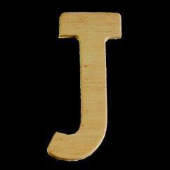 8735 616- 4cm houten letter J