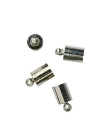 5mm dichte eindkapjes 4 stuks staalkleur  -  117453/5412