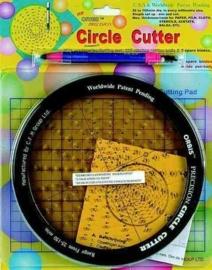 2447 1110- orbis cirkel snijder met mes, snijmat, en cirkelplaat