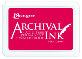 CE306010/0461- Ranger archival ink pad - vermillion