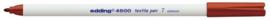 CE394600/0007- edding-4600 textielpen 1mm bruin