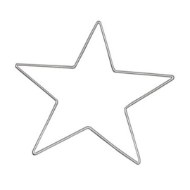metalen ster van 25cm doorsnee  -  6785 255