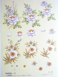 "kn/497- A4 knipvel ""parra"" no.11 bloemen"
