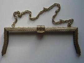 39- tasbeugel met ketting 24.5cm brons