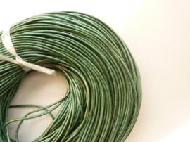CH.032- 3 meter leren veter parelmoer turquoise 2mm dik AA kwaliteit - SUPERLAGE PRIJS!