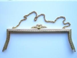 31- tasbeugel met ketting 22.5cm goud