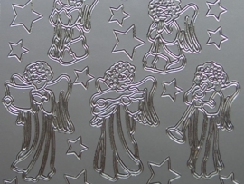 st 487- herfstafbeelding engeltjes zilver