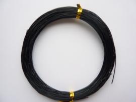 AW.10- 20 meter aluminiumdraad (Wire&Wire draad) van 0.8mm dik olie zwart