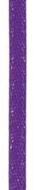 006302/0231- 4.5 meter satijnlint van 10mm breed op een rol donker paars