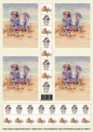 kn/88- A4 knipvel Christine seashells -117141/9418