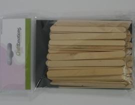 CE811700/0100- ca. 100 stuks houten ijslollie stokjes van ca. 11.4cm lang