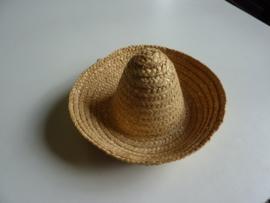SLK.214- Mexicaans hoedje voor decoratie van ca. 17cm breed OPRUIMING