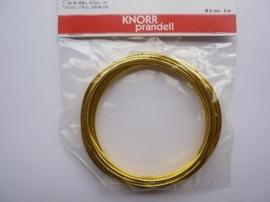 6464 203- 3 meter aluminiumdraad van 2mm dik goudkleur