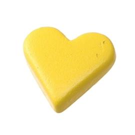 6258 050- 25 stuks snaps eyelets hartjes geel van 8x10mm