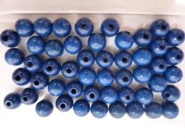 6030 378- 50 stuks A-kwaliteit houten kralen van 10mm donkerblauw