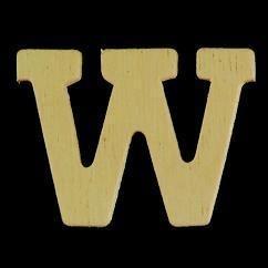8735 630- 4cm houten letter W