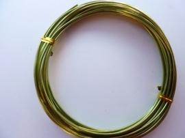 6 meter aluminiumdraad (Wire&Wire draad) van 1.5 mm dik lichtgroen
