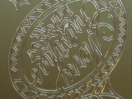 432- merry christmas goud 10x20cm
