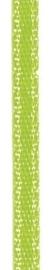 006302/0242- 4.5 meter satijnlint van 10mm breed op een rol neon groen