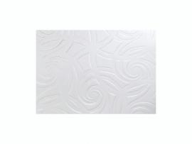 KN218301402- kaarsen versierwas plaatje 17.5x8cm zilver met reliëf