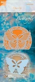JOY6003/2014- Joy! Crafts cutting & embossingstencil open up vlinder 140x280mm