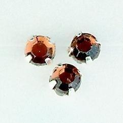 107007/0003- 12 stuks glazen rijg/naai strass steentjes 7mm rond kristal smoke