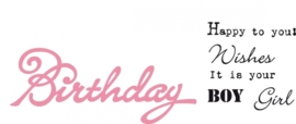 CE115638/1349- Marianne Design collectables Birthday