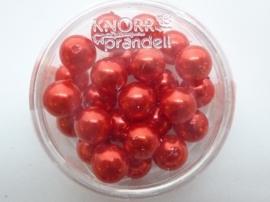 25 x ronde glasparels in een doosje 8mm rood - 2219 720