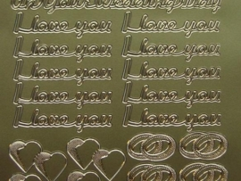 426- on your wedding day/i love you goud 10x20cm