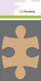 CE812301/0110- 3 stuks MDF basisvormen puzzelstukken van 10x14.5cm