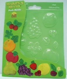 1866 1058- Makin`s clay push molds fruit 17.5x14cm