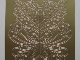 485- grote bloemornamenten goud