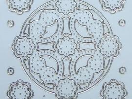 st586- borduursticker ornamentjes goud 10x20cm